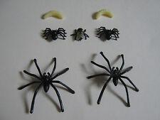 Fake Fly 2 Types of Spider Joke maggot Prank Plastic Rubber Trick fake insect