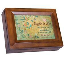 Cottage Garden Wood Finish Jewelry Music Box - You are My Sunshine
