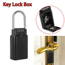 Key Lock Box 4 Digit Key Storage Security Lock Portable Outdoor Hide Key Travel