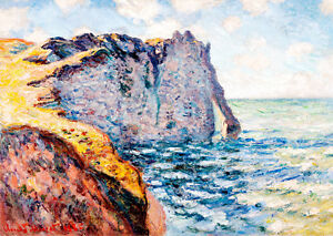 The Cliff of Aval Etretat by Claude Monet A1 High Quality Art Print