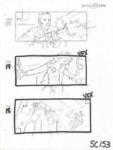 Terminator 3 original production used 2001 T3 storyboard sheet scene 153
