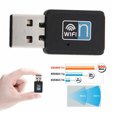 ✔ADATTATORE USB 2.0 WIFI CHIAVETTA PENNA WIRELESS 11N 300 MBPS NETWORKING PC MAC