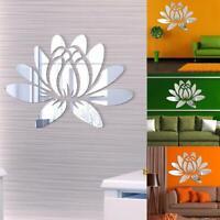 Modern 3D Flower Mirror Wall Sticker Art DIY Decal Removable Room Decor