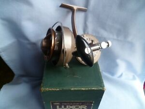 SCARCE VINTAGE PEZON et MICHEL MER LUXOR SAUMON REEL + BOX 1957 No.3 L.A FRANCE