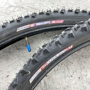 Vintage Ritchey 26 Tires MTB MEGA BITE Z Max Climb Pair 2 Tubes Mountain 80s 90s