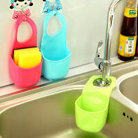 Kitchen Sink Drain Bag Basket Bathroom Shelves Storage Gadget Tools New