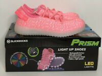 NEW Girls SlickKicks Prism Pink Black Rechargeable Light Up LED Shoes Sneakers
