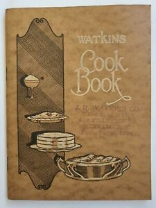 Vintage Watkins Cookbook 64 pages J.R. Full color illustrations Buffalo NY 1926