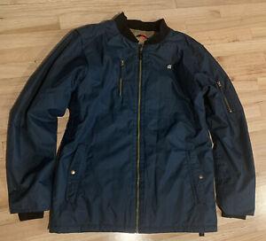 686 Navy Blue Mens Snowboard Jacket InfiDery 5K - Size XLarge NO HOOD