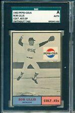 1962 PEPSI PEPSI-COL HOUSTON COLT .45's  BOB LILLIS  SP SGC