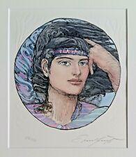 Ernst Fuchs (1930-2015) colorierte original litografía: olímpicodesarrolla # 246/250