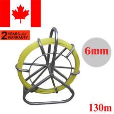 Fish Tape Fiberglass Wire Cable Running Rod Duct Rodder Fishtape Puller Yellow