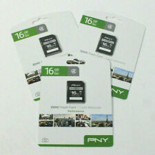 PNY 16GB SDHC Performance Flash Card Lot Of 3 (282)