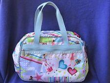 Le SportSac Petite Weekender Shoulder Bag Avenue Print Retired EUC