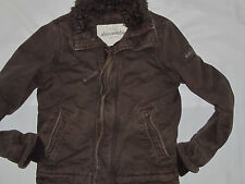 Youth Boys Abercrombie Brown Adirondack Faux Fur Jacket Coat Size Large 14