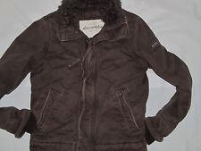Youth Boys Abercrombie Brown Adirondack Faux Fur Jacket Coat Size Large 14