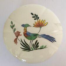 GIEN Oiseaux de Paradis Bonbonnière + petite assiette diamètre 16 cm