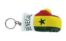mini boxing gloves keychain keyring key chain leather Flag senegal