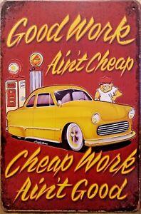 GARAGE Rustic Metal Tin Sign. Vintage Rustic Garage,  Bar & Man Cave