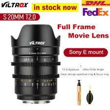 Viltrox 20mm T2.0 Wide Film Lens Full Frame Prime Cinematic MF For Sony E-mount