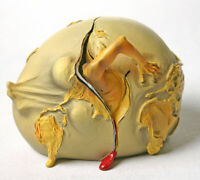 Salvador DALI Geopoliticus Child Watches Birth Of Human Resin Sculpture