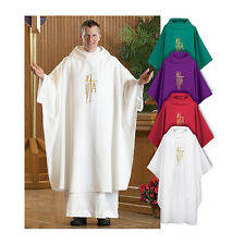 Spirit of Hope Purple Monastic Chasuble, Interlined Cowl & Matching Inside Stole