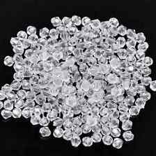300pcs Acrylic Spacer Beads Bicone White Faceted 4x4mm DYI Jewelry Making