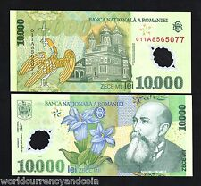 ROMANIA 10000L.P112 2000 EAGLE POLYMER UNC BANK NOTE