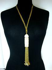 ELEGANT GOLD TASSLE DESIGN NECKLACE CLASSY TRENDY FAST DELIVERY BRAND NEW!!