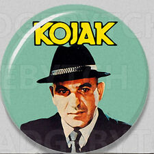 KOJAK Badge Button Pin - RETRO CLASSIC !  -  25mm and 56mm size!