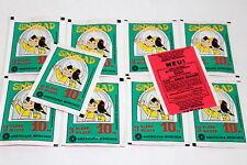 Americana Sindbad De 1978, 10 X Sac en Papier Paquet Bustina Pochette Rare !