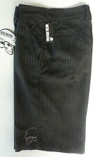 "Genuine Mulisha ""The Don"" Black Pin Stripe Walkshorts - Size 28  -  NWT"