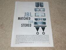 JBL Signature Speaker Ad, 1958, Ranger-Paragon, Bel Aire, Harlan, Harkness, Horn