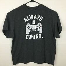 Playstation PS3 Always In Control Graphic T Shirt Men's 3XL Ripple Junction