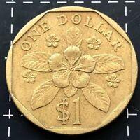 1995 SINGAPORE $1 ONE DOLLAR COIN - SINGAPURA