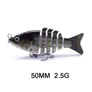 Multi joint Fishing Swimbait Crankbait Hard Soft Lures Wobbler Fish Tackle Hook