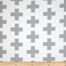 Crossed impressions dans le brouillard, blanc et gris croix Art Gallery Fabrics