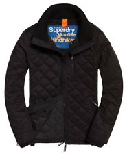 New Mens Superdry Microfibre Quilted SD-Windhiker Jacket Black