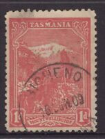 Tasmania BICHENO 1909 type 2 postmark on 1d pictorial rated R- (7) by Hardinge