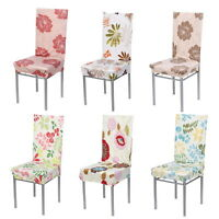 Removable Stretch Short Slipcovers Dinning Room Wedding Stool Chair Seat Cover