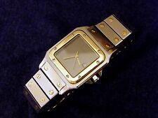 Cartier Santos Men's 18k & S/S Galbee Automatic Date Wrist Watch Large 32x41mm