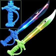 12 PCS Light-Up Ninja Swords w/ Sound Flashing LED Toy Sticks Glow Lot WHOLESALE