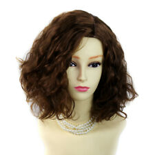 Wiwigs ® Lovely Brown Auburn Short Curly Summer Style Skin Top Ladies Wig