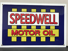 Speedwell motor oil  advertising sign vintage baked large