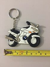 motorcycle keychain Rubber BMW White