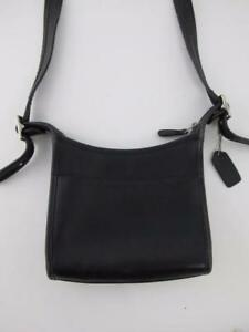Coach Vintage Rare Legacy Full Grain Leather Black Shoulder Bag Handbag Purse