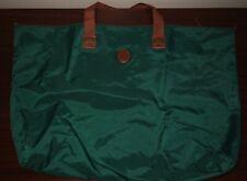 Polo Ralph Lauren Weekender Duffle Bag Luggage Tote Nylon Leather Green