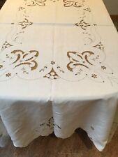 XL Linen Tablecloth White.4 Napkins.