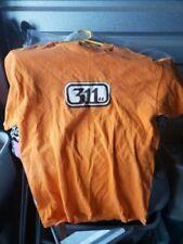 Vintage Rare 311 SoundSystem Orange Band T Shirt Medium Rock Reggae 90's