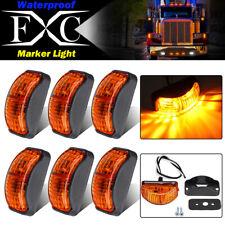 6 x Amber 2 LED Mini Side Marker Light Blinker For Truck Trailer Van Waterproof